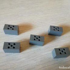 Juegos construcción - Tente: TENTE BLOQUE BASE MASTIL GRIS NAVIO X5 PIEZAS REF INTREP. Lote 107710135