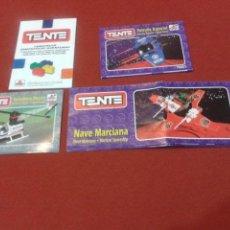 Juegos construcción - Tente: TENTE LOTE 3 INSTRUCCIONES Y 1 CATALOGO ( PATRULLA ESPACIAL, NAVE MARCIANA, HELICOPTERO RESCATE+. Lote 109183415