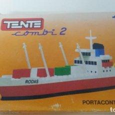 Juegos construcción - Tente: CAJA DE TENTE EXIN ANTIGUA TENTE COMBI 2 PORTACONTAINERS. Lote 110329943