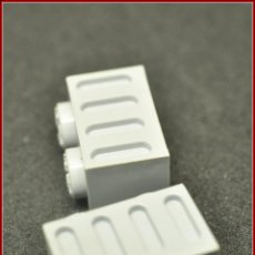 Juegos construcción - Tente: TENTE - 2 X 1 X 1 1X2 REBAJES GRIS CLARO X2. Lote 110442287