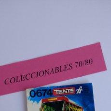 Juegos construcción - Tente: TENTE CONSTRUCCIÓN AUTOBÚS URBANO REF 0674 CATALOGO INSTRUCCIONES EXIN LINES BROS. Lote 112299479
