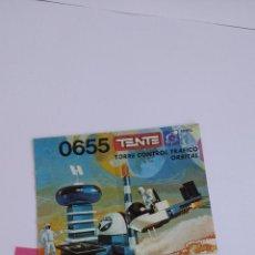Juegos construcción - Tente: TENTE ASTRO REF 0655 TORRE CONTROL TRAFICO ORBITAL INSTRUCCIONES CONSTRUCCIÓN EXIN LINES BROS. Lote 112300243