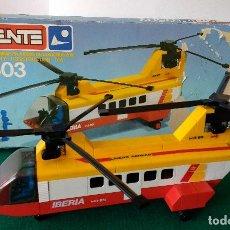 Juegos construcción - Tente: HELICÓPTERO COMERCIAL REF 0503 TENTE IBERIA COMPLETO EN CAJA E INSTRUCCIONES. Lote 112714651