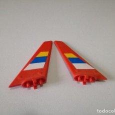 Juegos construcción - Tente: TENTE ALA AVION HELICOPTYERO ROBLOCK SKYMASTER CON ADHESIVO ROJO X2 PIEZAS. Lote 113574567
