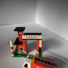Juegos construcción - Tente: TENTE RUTA CUARTEL Y CAMIÓN BOMBEROS REF 0690 TENTE EXIN MODELO ORIGINAL. Lote 114766759