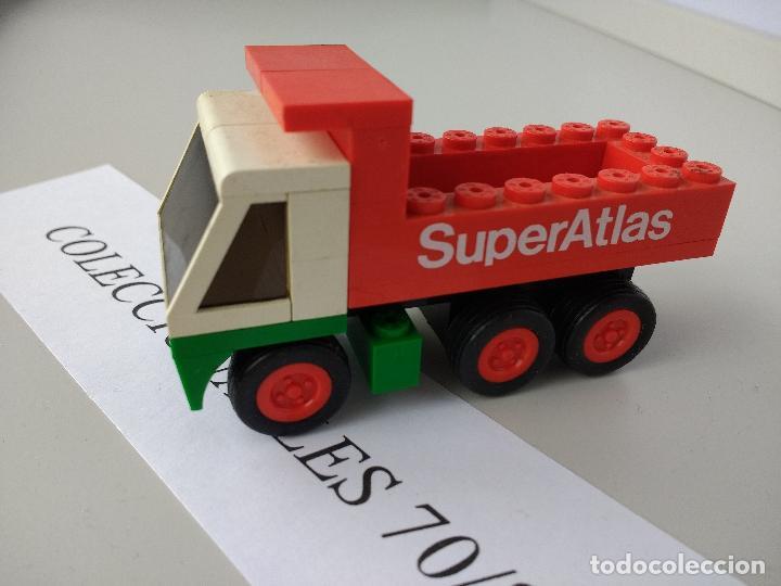 TENTE RUTA CAMIÓN VOLQUETE REF 0672 SUPER ATLAS EXIN MODELO ORIGINAL COMPLETO (Juguetes - Construcción - Tente)