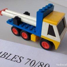 Juegos construcción - Tente: TENTE RUTA CAMIÓN PLATAFORMA REF 0670 2760 EXIN MODELO ORIGINAL COMPLETO. Lote 116171415