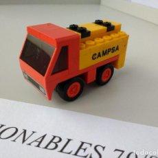 Juegos construcción - Tente: TENTE RUTA CAMIÓN CISTERNA CAMPSA REF 0692 EXIN MODELO ORIGINAL COMPLETO. Lote 116172159