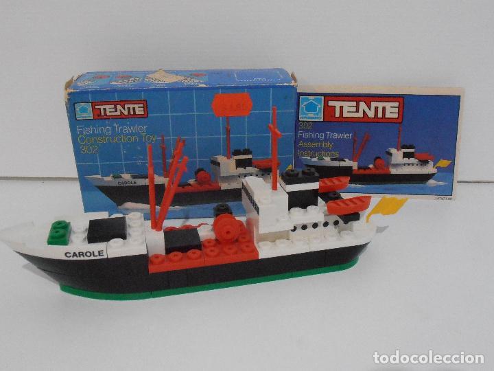 TENTE PESQUERO CAROLE FISHING TRAWLER, EXIN HASBRO REF 302, COMPLETO CAJA INSTRUCCIONES, EEUU (Juguetes - Construcción - Tente)