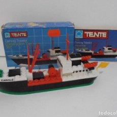 Juegos construcción - Tente: TENTE PESQUERO CAROLE FISHING TRAWLER, EXIN HASBRO REF 302, COMPLETO CAJA INSTRUCCIONES, EEUU. Lote 119285535