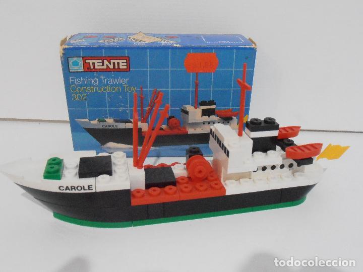 Juegos construcción - Tente: TENTE PESQUERO CAROLE FISHING TRAWLER, EXIN HASBRO REF 302, COMPLETO CAJA INSTRUCCIONES, EEUU - Foto 2 - 119285535