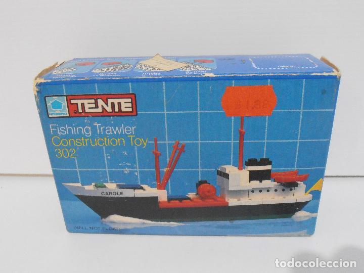 Juegos construcción - Tente: TENTE PESQUERO CAROLE FISHING TRAWLER, EXIN HASBRO REF 302, COMPLETO CAJA INSTRUCCIONES, EEUU - Foto 8 - 119285535