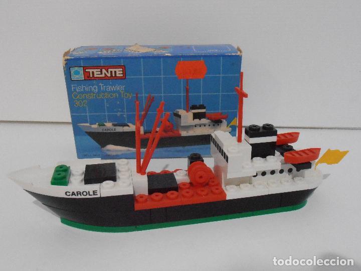 Juegos construcción - Tente: TENTE PESQUERO CAROLE FISHING TRAWLER, EXIN HASBRO REF 302, COMPLETO CAJA INSTRUCCIONES, EEUU - Foto 14 - 119285535