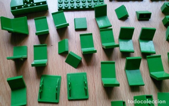 Juegos construcción - Tente: Lote piezas Tente antiguas color verde - Foto 4 - 119425175