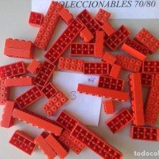 Juegos construcción - Tente: LOTE DE 46 PIEZAS TENTE ROJAS BLOQUES VARIOS ORIGINALES EXIN LINES BROS FICHAS. Lote 232258705