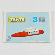 Giochi costruzione - Tente: TENTE EXIN MANUAL DE INSTRUCCIONES DE MONTAJE COMBI Nº 3 BUQUE HOSPITAL MARIA AÑO 1980. Lote 120447227
