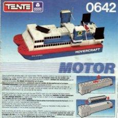 Juegos construcción - Tente: INSTRUCCIONES 0642 HOVERCRAFT - TENTE. Lote 120721551