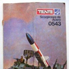 Juegos construcción - Tente: INSTRUCCIONES DE MONTAJE SCORPIONES DE ACERO 0543. TENTE. Lote 121931863