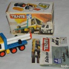 Juegos construcción - Tente: VINTAGE - CAJA TENTE RUTA REF. 0670 CAMIÓN PLATAFORMA - COMPLETO - TENTE EXIN - MADE IN SPAIN. Lote 121966839