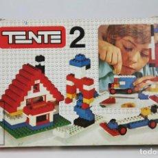 Juegos construcción - Tente: ANTIGUO JUEGO - TENTE 2 CON CAJA ORIGINAL Y FOLLETO - REF. 0402 - EXIN - AÑOS 70 - INCOMPLETO. Lote 122067587