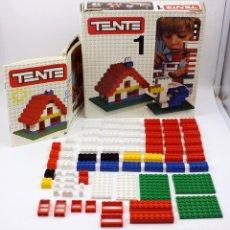 Juegos construcción - Tente: ANTIGUA CAJA TENTE 1 - REF. 0401 - EXIN - AÑOS 70 - CON INSTRUCCIONES Y BASTANTE COMPLETO. Lote 122297359