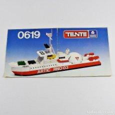 Juegos construcción - Tente: TENTE MAR OCEANIS MANUAL INSTRUCCIONES MONTAJE 0619 ROMPEHIELOS NUCLEAR OCEANOGRAFICO. Lote 126189431