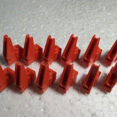 Juegos construcción - Tente: ROJO GRUA BASE - TENTE (12 UNIDADES). Lote 129007579