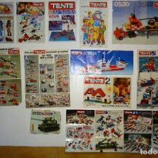 Juegos construcción - Tente: LOTE DE CATALOGOS E INTRUCCIONES ORIGINALES DE TENTE.. Lote 130027615