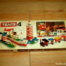 Juegos construcción - Tente: CAJA TENTE 4 CON INSTRUCCIONES 5 CUBETAS Y MAS DE 200 PIEZAS - EXIN MADE IN SPAIN. Lote 131932766