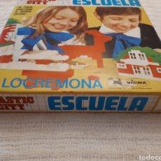 Juegos construcción - Tente: ESCUELA PLASTIC CITY JUEGO CONSTRUCCIÓN TIPO TENTE DE ITALOCREMONA. Lote 133419981