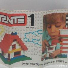 Juegos construcción - Tente: CATÁLOGO, INSTRUCCIONES TENTE 1, REF 0401. Lote 133565354