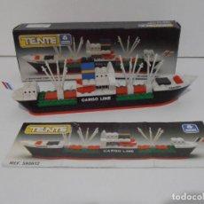 Juegos construcción - Tente: TENTE BARCO CARGO LINE, EXIN DENYS FISHER REF 590612, COMPLETO CAJA INSTRUCCIONES, ENGLAND. Lote 133665654