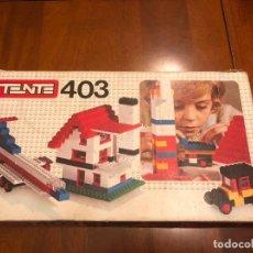 Juegos construcción - Tente: CAJA DE TENTE EXIN REFERENCIA 403. AÑOS 70. Lote 134244858