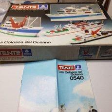 Juegos construcción - Tente: TENTE CAJA Y CATÁLOGO LOS COLOSOS DEL MAR 0540. Lote 134418075