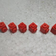 Juegos construcción - Tente: ROJO JACENA ENGANCHE 1X1 - TENTE (6 UNIDADES). Lote 194237156