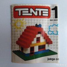 Juegos construcción - Tente: LIBRO O MANUAL DE INSTRUCCIONES DE MONTAJE TENTE 1 - REF 0401 - 1976. Lote 137888646