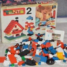 Juegos construcción - Tente: VINTAGE - GRAN LOTE PIEZAS Y ACCESORIOS TENTE - MÁS CAJA VACÍA SET 2 REF. 0402 - EXIN MADE IN SPAIN. Lote 139175902