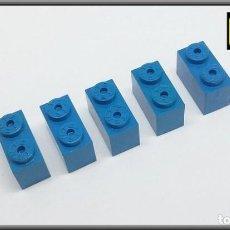 Juegos construcción - Tente: TENTE LOTE 5 PIEZAS BLOQUE 1 X 2 AZUL. Lote 140127046