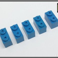 Juegos construcción - Tente: TENTE LOTE 5 PIEZAS BLOQUE 1 X 2 AZUL. Lote 140127130
