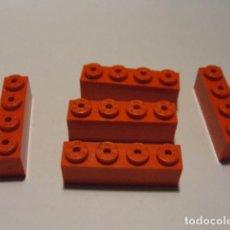 Juegos construcción - Tente: LOTE 5 LADRILLO 4X1 ROJO TENTE. Lote 140162214