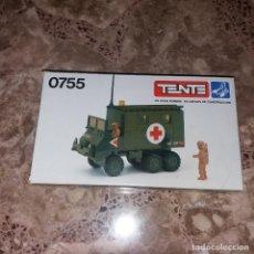 Juegos construcción - Tente: TENTE EXIN SCORPION. REF. 0755. AMBULANCIA DE CAMPAÑA. CAJA VACÍA. NUEVA. Lote 142797050