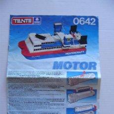 Juegos construcción - Tente: TENTE HOVERCRAFT MOTOR MANUAL DE MONTAJE INSTRUCCIONES.. Lote 143012894