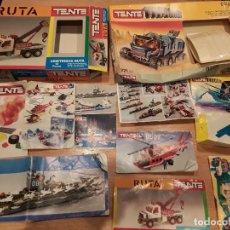 Juegos construcción - Tente: TENTE, LOTE CAJAS E INSTRUCCIONES ORIGINALES, TITANIUM Y DEMÁS.. Lote 144803740