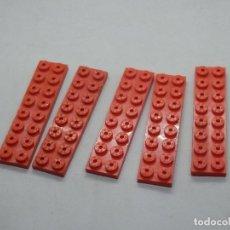 Juegos construcción - Tente: TENTE PLACA 8X2 ROJO 5 UNIDADES. Lote 144254346
