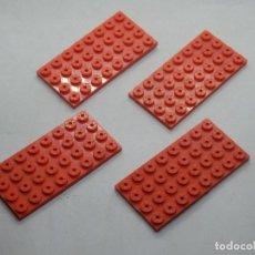 Juegos construcción - Tente: TENTE PLACA 8X4 ROJO 4 UNIDADES. Lote 144255522
