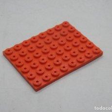 Juegos construcción - Tente: TENTE PLACA 8X6 ROJO. Lote 144257802