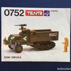 Juegos construcción - Tente: CATÁLOGO INSTRUCCIONES MONTAJE TENTE SCORPION - 0752 SEMI-ORUGA W462. Lote 148543990