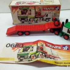 Juegos construcción - Tente: TENTE RUTA TRAILER PLATAFORMA REF. 0680. Lote 151139786