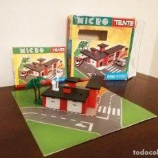 Juegos construcción - Tente: MICRO TENTE BOMBEROS FIRE STATION REF. 0421 EN CAJA Y CON INSTRUCCIONES. Lote 151450286