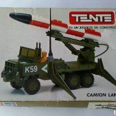 Juegos construcción - Tente: TENTE EXIN REF 0753 CAMIÓN LANZAMISILES. Lote 151558546